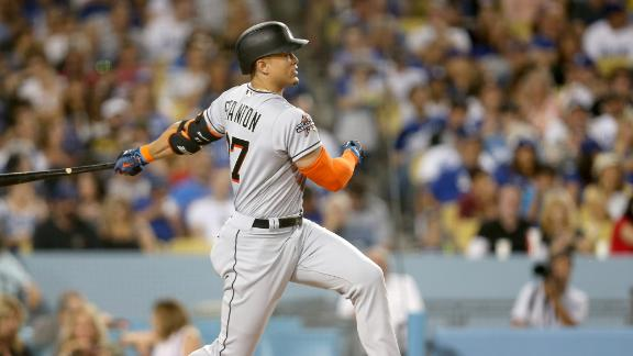 Stanton hot at the plate in Marlins' win