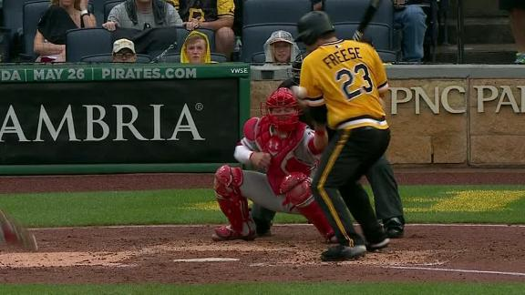 Freese takes one for team for game's only run
