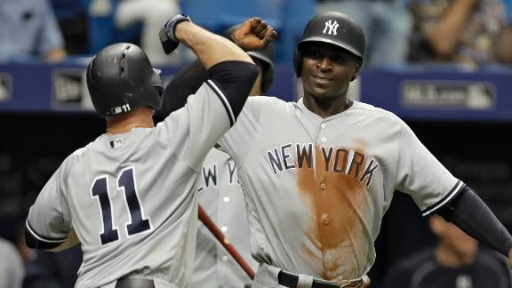 Three batters hit, three ejections in Rays win over Yankees
