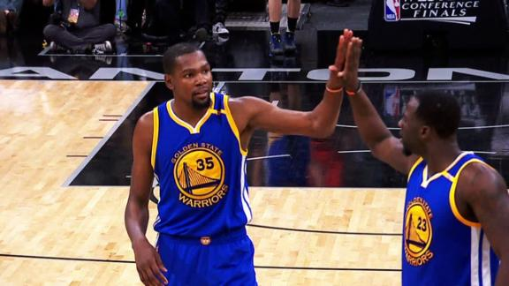 Durant, Warriors close out Spurs