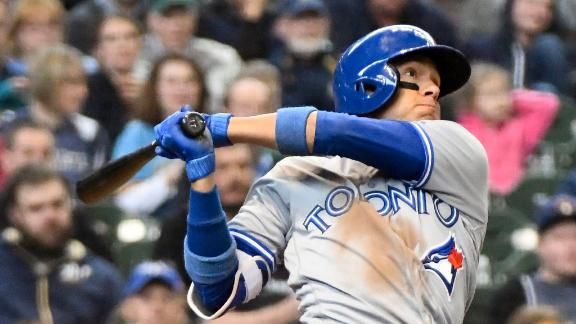 Goins pads Blue Jays' lead with grand slam