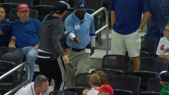 Braves security guard takes ball from kid and ejects fan