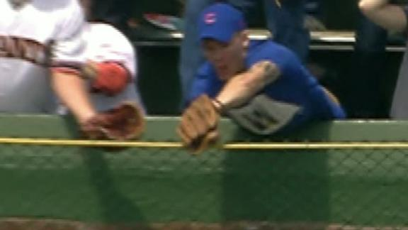 Did fan interfere with Bryant's homer?