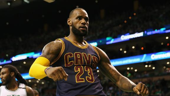 LeBron, Cavs finish off Celtics and head onto Golden State