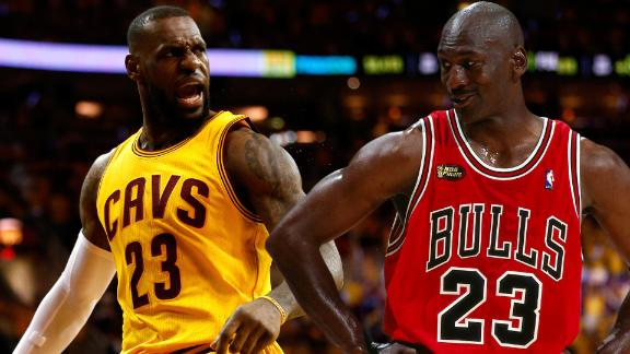 Better playoff scorer: LeBron or Jordan?