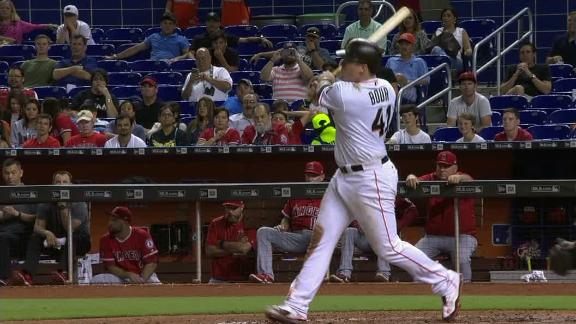Bour stays hot with 3-run homer