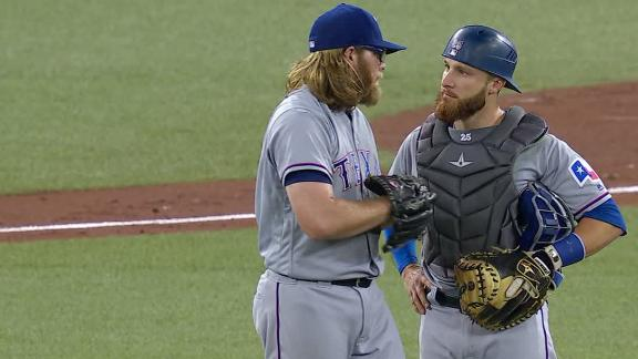 Griffin exits game in second inning