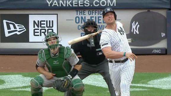 Holliday gives Yankees lead with 2-run blast
