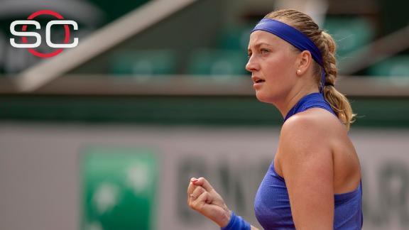 Kvitova wins in emotional return to court