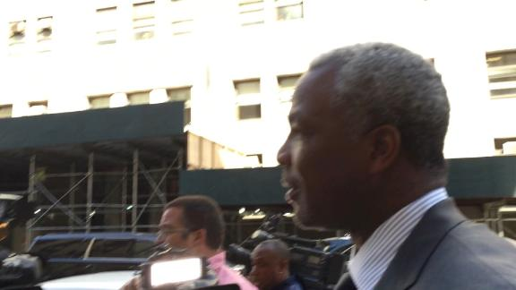 Charles Oakley mostly declined comment during his court appearance on Friday morning: