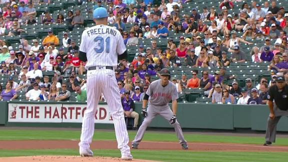 Freeland shows cat-like reflexes on pick-off