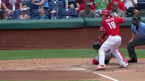 Joseph adds to Phillies' lead with homer