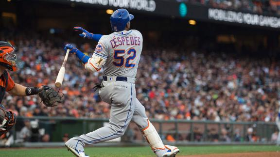 Cespedes' two-run shot pads Mets' lead