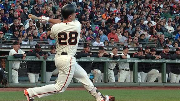 Posey puts Giants up early with RBI double