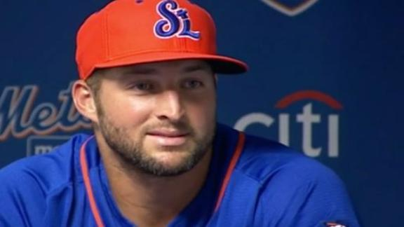 Tebow acknowledges challenge at Port St. Lucie