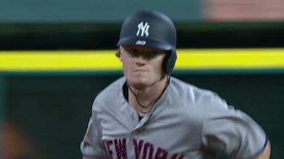 Frazier homers in debut