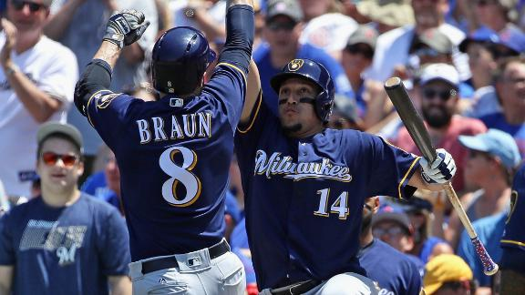 Brewers dominate third inning with 7 runs