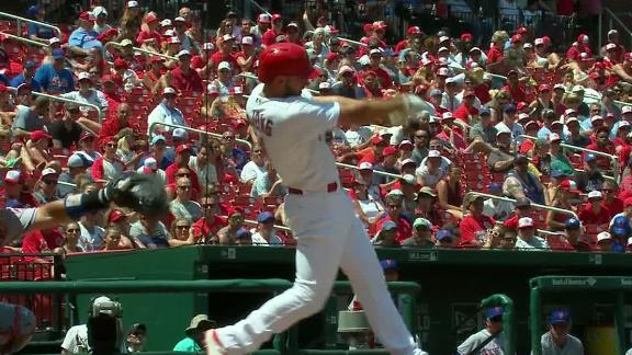 DeJong parks one in the stands for Cardinals