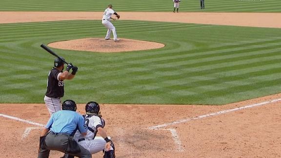 Cabrera breaks up no-no in the ninth