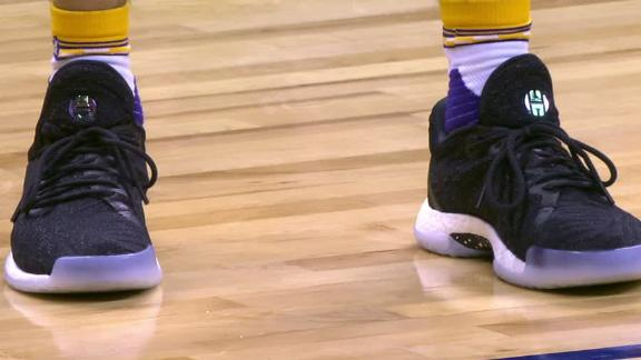 Lonzo switches up to Harden's Adidas sneakers