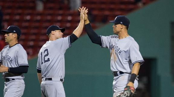 Yankees score three in the 16th to edge Red Sox