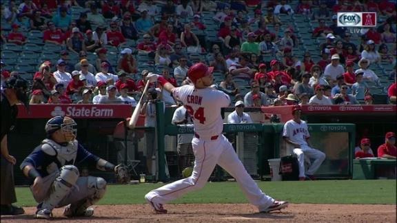 Cron's homer puts Angels up for good