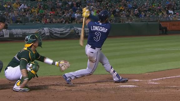 Longoria's long ball just stays fair