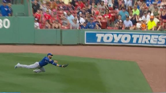 Bautista makes incredible diving catch