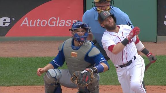 Pedroia homers over Green Monster