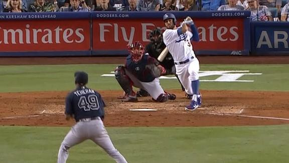 Taylor pads Dodgers' lead with HR and triple