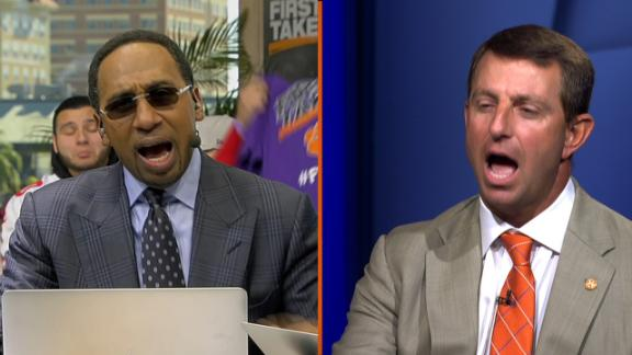 Dabo makes Stephen A. pay for Alabama prediction