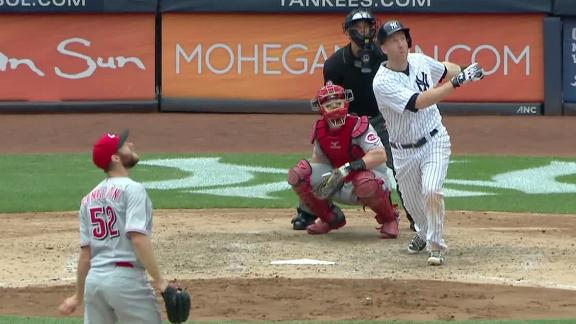 The 'Todd-father' hits first long ball as a Yankee