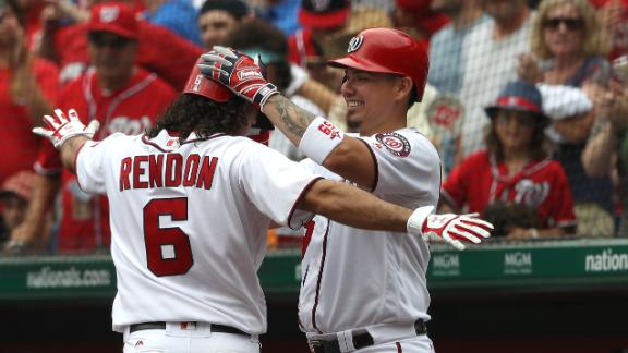 Nationals tie MLB record with 5-HR inning