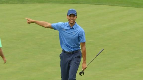 Steph brings the fun in first round of pro golf
