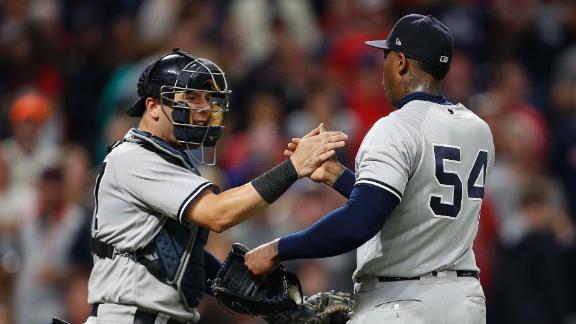 Yankees edge Indians, snap slide