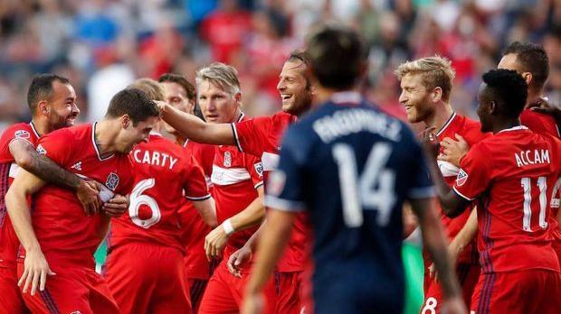 Chicago 4-1 Revolution: Fire break winless streak - Via MLS