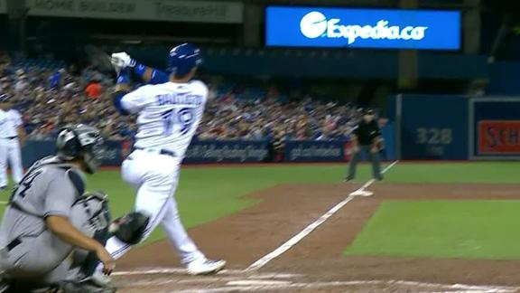 Bautista goes yard to extend Blue Jays' lead