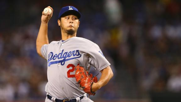 Darvish leads Dodgers past D-backs