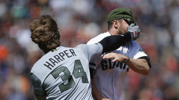 Harper has a history with the Giants