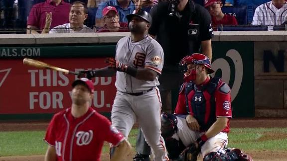 Sandoval mashes first HR in return to Giants