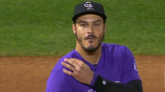 Arenado error allows game-winning run