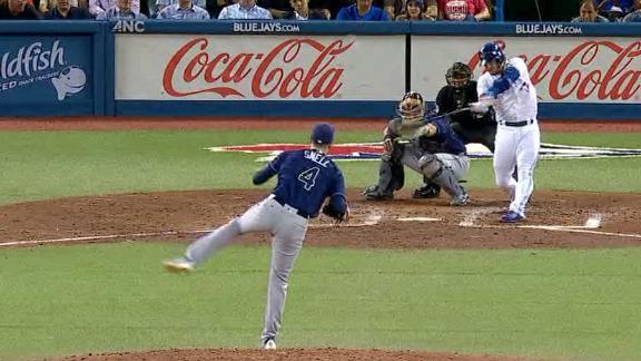 Donaldson cranks a three-run homer run against the Rays