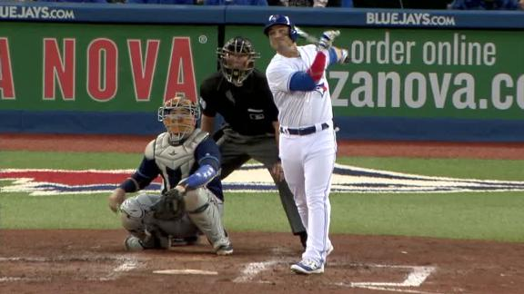 Pearce mashes a big fly to right