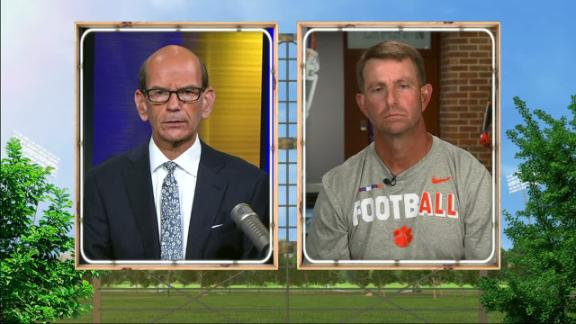 Swinney, Clemson hoping to use platform to set positive example