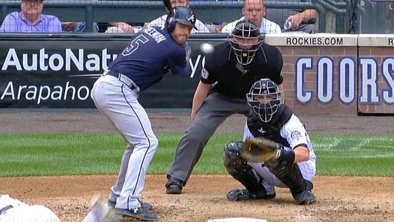 Freeman launches 439-foot HR to center