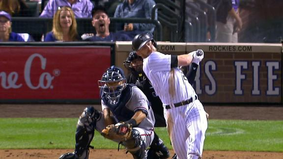 Story homers twice in Rockies' win