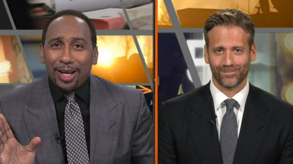 Stephen A. over the moon about Cutler