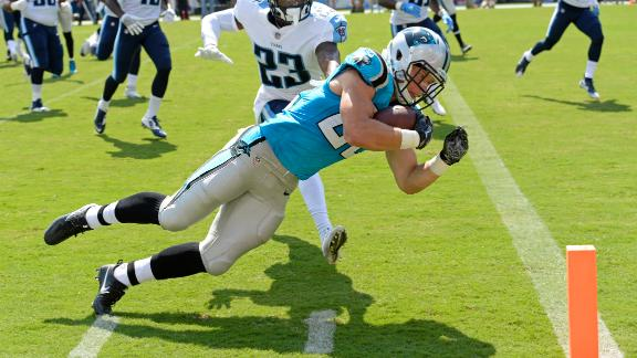 McCaffrey's TD earns a dance from Cam