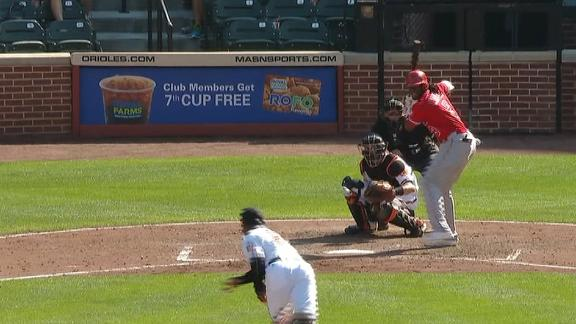 Maybin's pinch-hit single gives Angels lead
