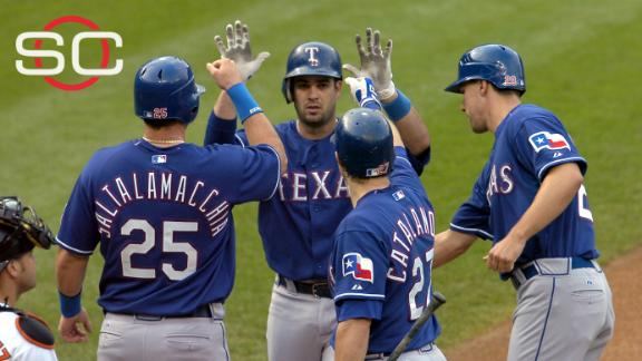On this date: Rangers score 30 runs